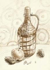 bottle, still life