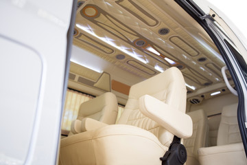 Modern interior of a new car