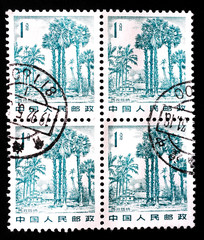 stamp shows landscape in Xishuangbanna, circa 1982
