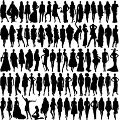 Silhouettes of female models vol 2