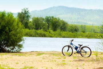 Bike at beach