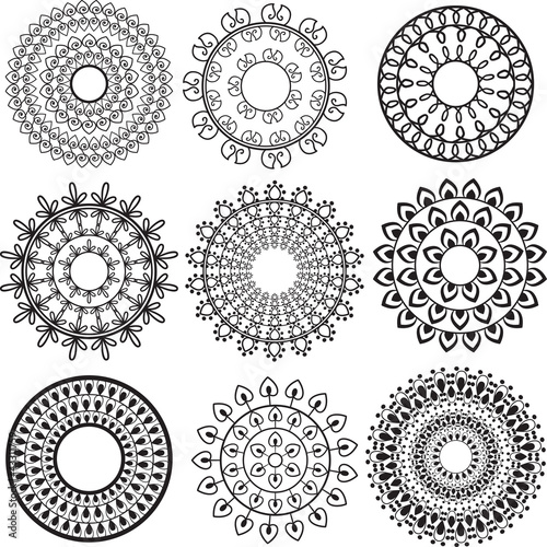 Henna Mandala Design Stock Image And Royalty Free Vector Files On