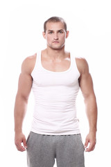 Young and handsome muscular man
