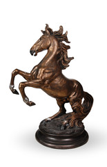 interior decorative horse statue isolated clipping path included
