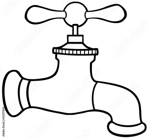 Outlined Water Faucet Stock Image And Royalty Free Vector Files On