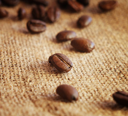 coffee on sack