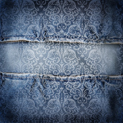 Abstract jeans background