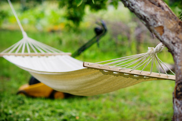 Hammock and lawn-mower