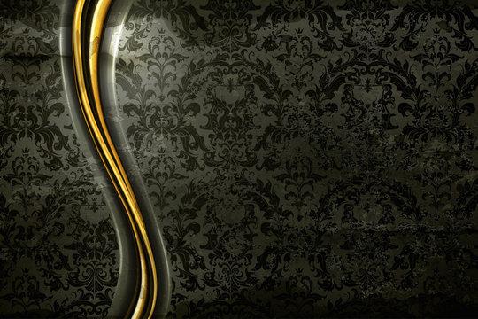 Black Luxury Background, old-style