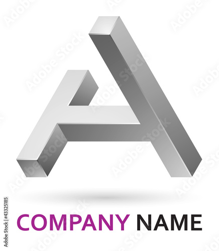 """3d logo design element - letter A"" Stock image and ..."