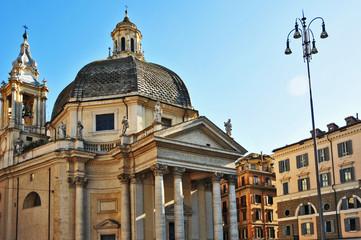 Roma, piazza del Popolo - chiesa Santa Maria Miracoli