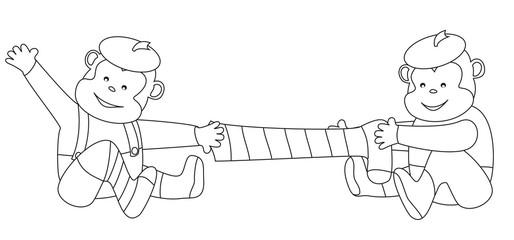 two monkeys-coloring