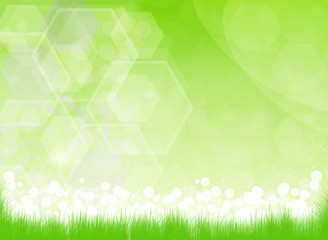 green natural vector background