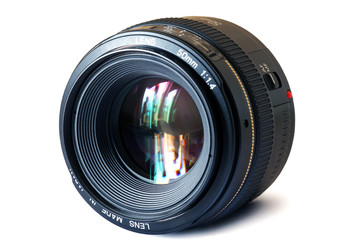 a fixed focal length 50 mm. lens
