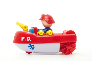 Toy fire department boat