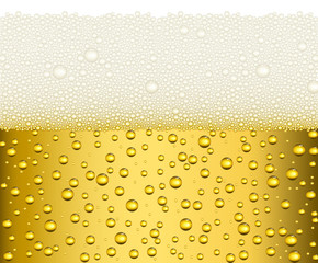 Light beer with big white foam background illustration