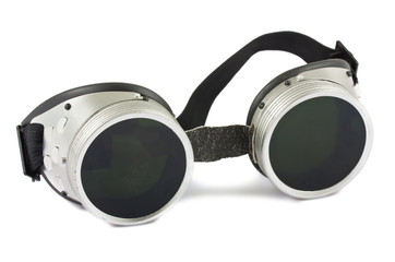 Old used welding goggles