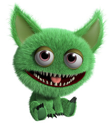 Zelfklevend Fotobehang Sweet Monsters green troll