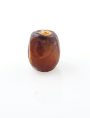 Fresh date over white background