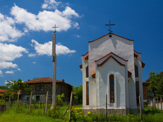 Little church and bell tower
