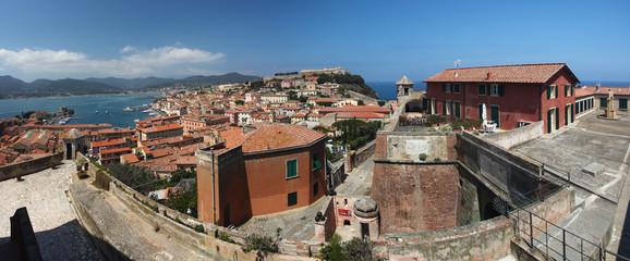 Porto feraio panoama, Elba, Tuscany, Italy
