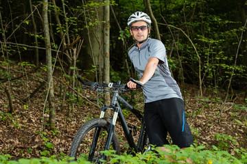 Portrait eines Radfahrers