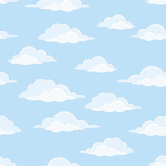 Printed roller blinds Heaven Sky with clouds, seamless