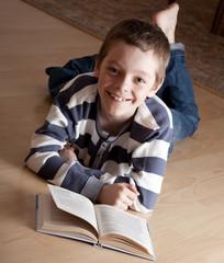 Boy reeding book