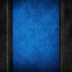 jeans background with leather