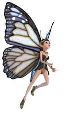 Foto op Aluminium Feeën en elfen elf butterfly flying on