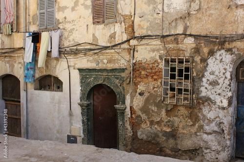 Casbah d 39 alger porte ottomane de maison photo libre de for Acheter maison algerie