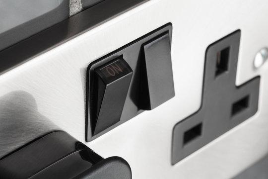 Plug socket in kitchen