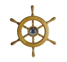 steering wheel of sailing-ship