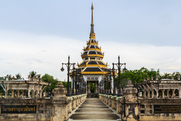 domes at temple thailand