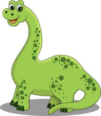 Photo sur Plexiglas Dinosaurs funny cartoon dinosaur