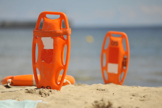 Lifeguard equipment on the beach