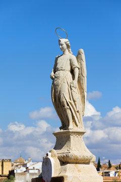 Archangel Raphael Statue in Cordoba