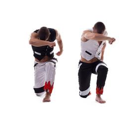 two men show dance performance