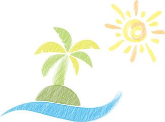 Insel, Sonne, Palme