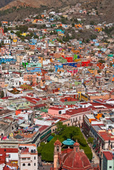 Vivid colors of Guanajuato Mexico