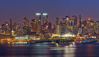 Canvas Prints New York Manhattan at night