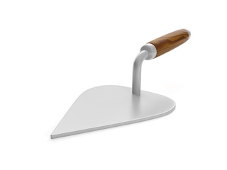 3d illustration: trowel on a white background
