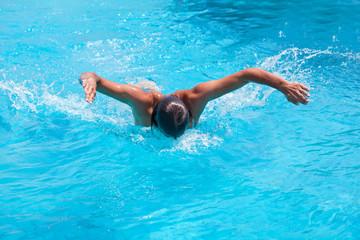 A swimmer in the sea
