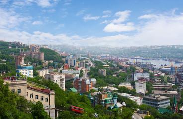 Vladivostok. Panorama of the Golden Horn