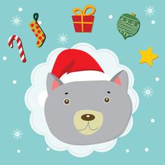 doggy christmas celebration