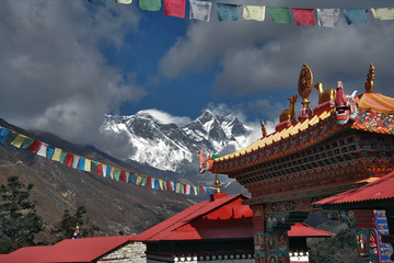 Photo sur Aluminium Népal Kloster in Tenboche, Nepal