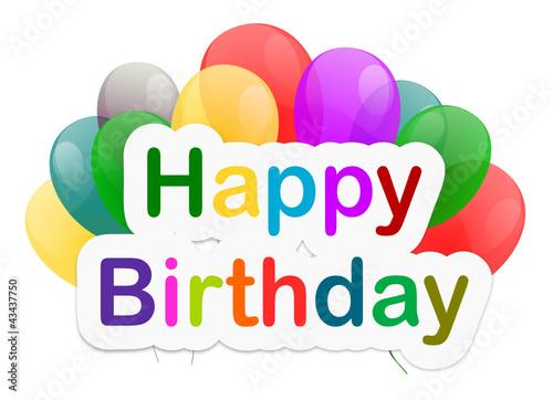 happy birthday luftballons stockfotos und lizenzfreie vektoren auf bild 43437750. Black Bedroom Furniture Sets. Home Design Ideas