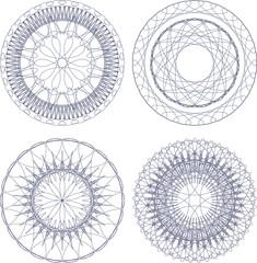 abstract elements set, vector money design