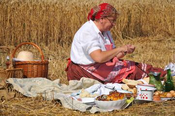 Traditional breakfast of wheat field