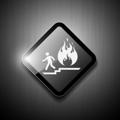 Fire exit sign modern design, vector illustration